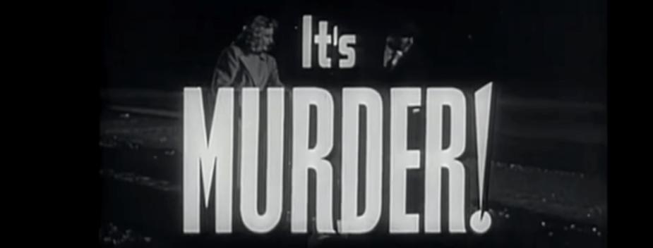 it's murder